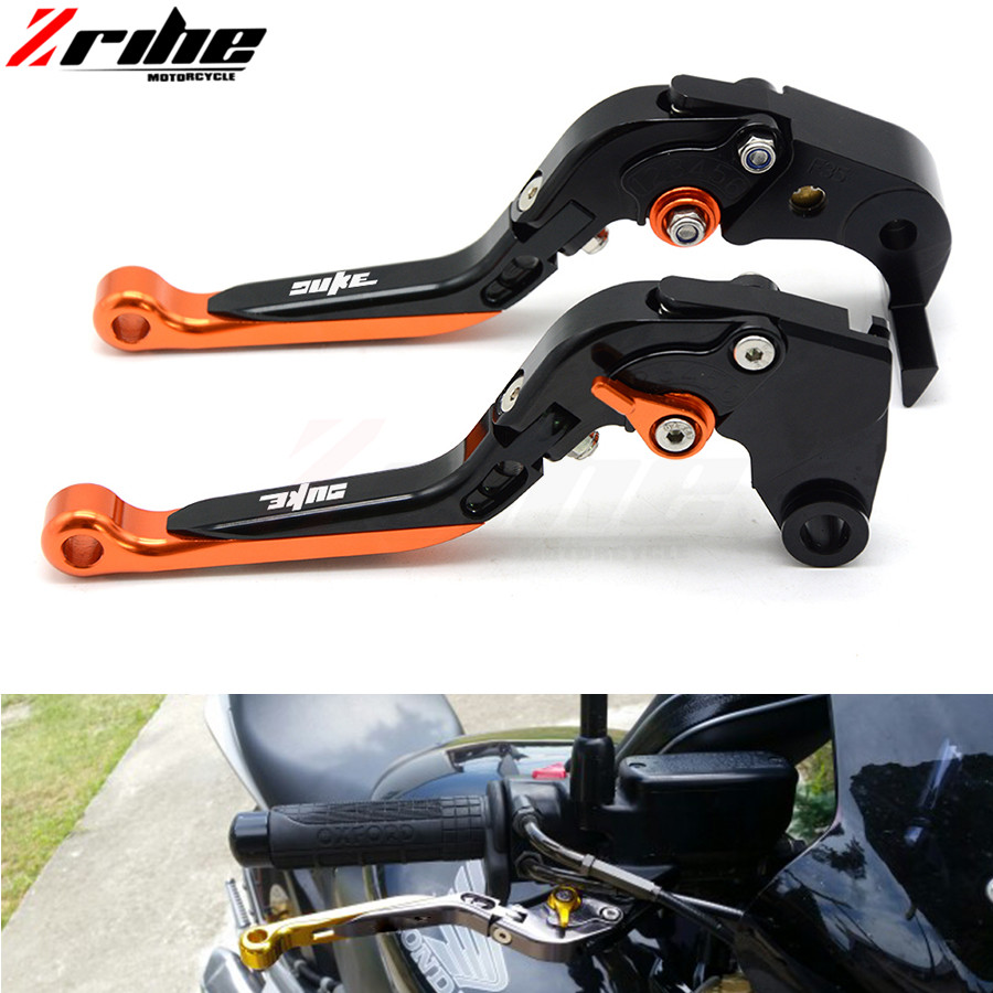 for Adjustable Motorcycle Brakes Clutch Levers Set Motorbike brake lever for ktm duke 125 duke 390 duke 200 duke 390 990 cnc for ktm 390 duke motorcycle leather pillon passenger rear seat black color