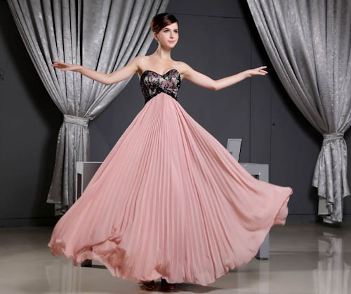 Elegant Strapless Sweetheart Long   Bridesmaid     Dresses   Sexy Chiffon Sleeveless Wedding Guest   Dress   Robe Demoiselle D'honneur