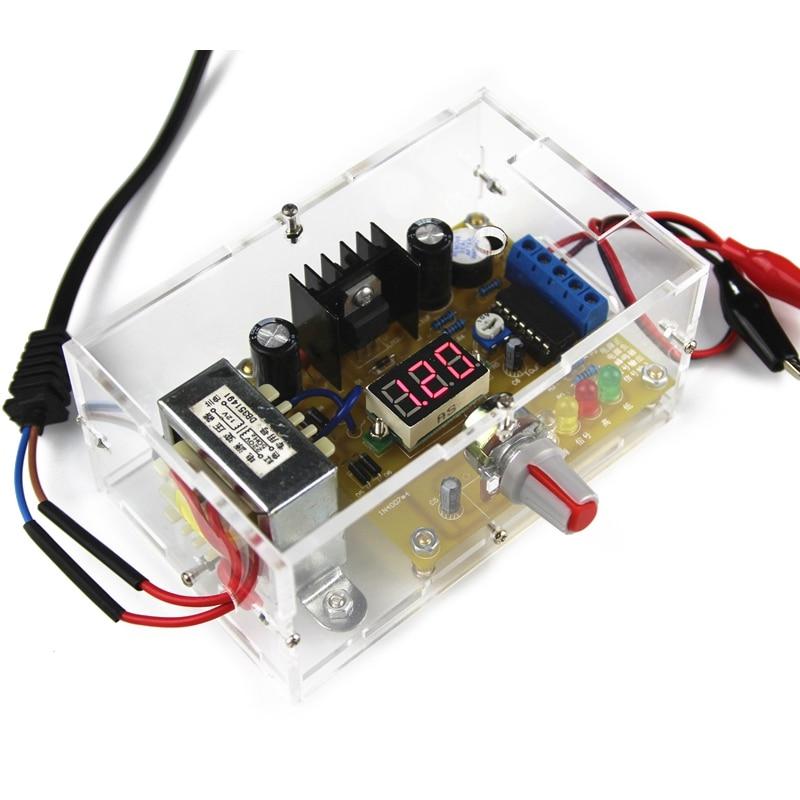 LM317 1.25-12V Adjustable DC Power SUpply Moudle Voltage Regulator DIY Kit Shell