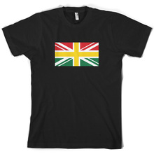 Ghana Union Jack Flag - Mens T-Shirt  New T Shirts Funny Tops Tee Unisex freeshipping