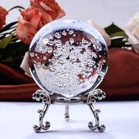 60 мм прозрачный кристалл пузыри мяч стеклянный шарик фэн шуй миниатюрный для подарка украшения дома интимные аксессуары офисные украшения