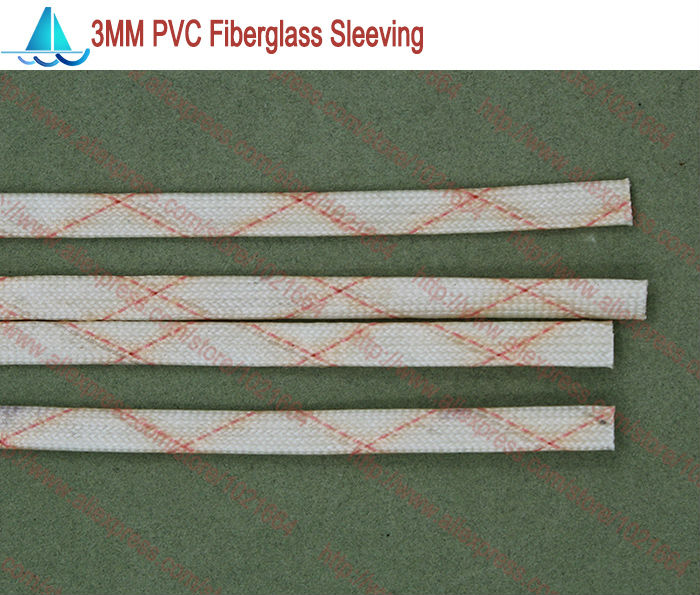 10meters/lot Diameter 3.0MM PVC Fiberglass Sleeving Insulation Sleeving