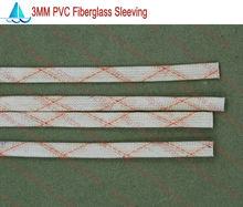 10 metros/lote diámetro 3.0 MM PVC funda de fibra de vidrio manga aisladora