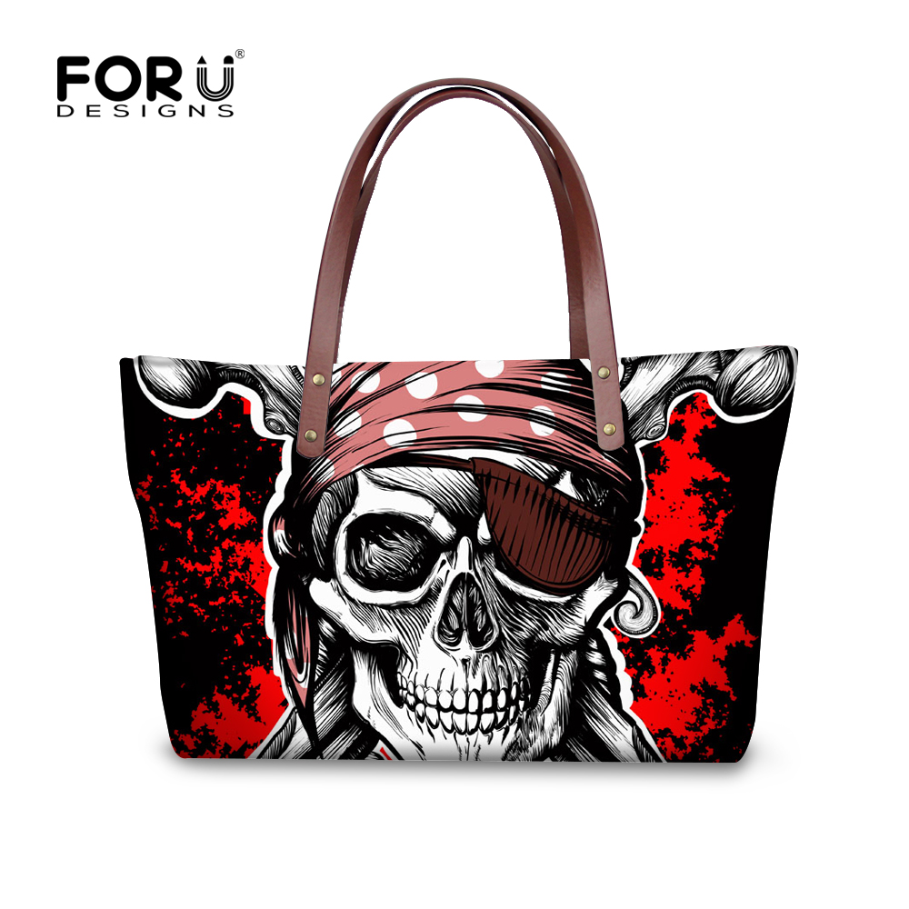 ФОТО Luxury Brand Women Handbags Punk Skull Head Handbags Large Capacity  top-handle Bags Casual Fashion High Quality Tote Bag Bolsos