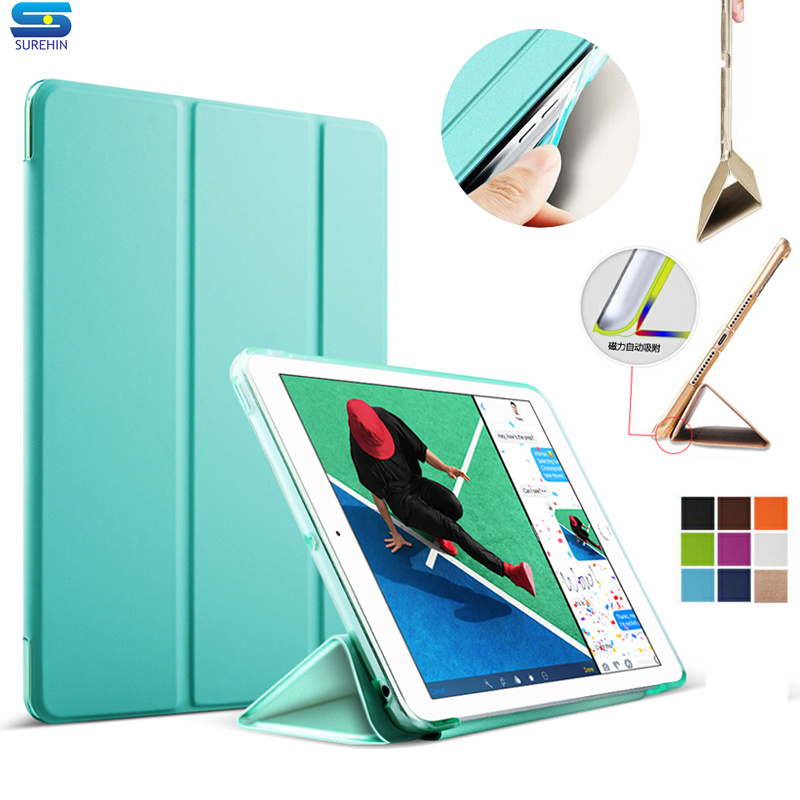 SUREHIN nice leather cover for ipad mini 1 2 3 sleeve hard tpu silione soft edge smart case for apple ipad mini 3 2 1 cover surehin nice smart magnetic premium real genuine leather case for apple ipad pro 10 5 cover stand thin flip protective case