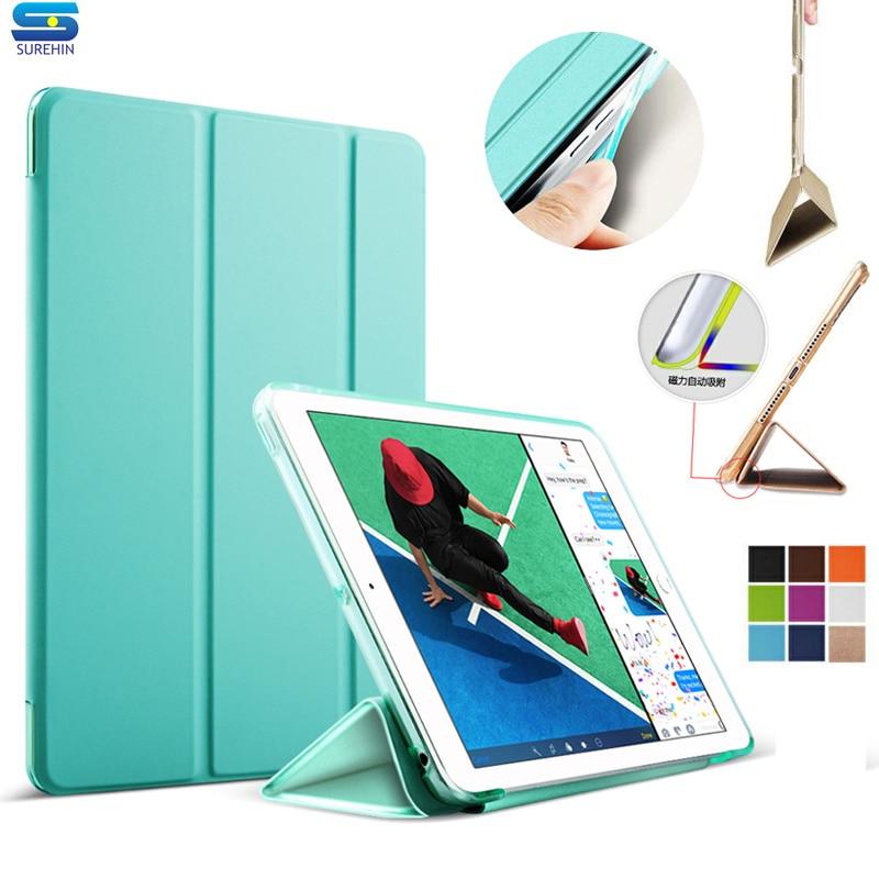 SUREHIN nice capa de couro para ipad mini 1 2 3 manga rígido tpu - Acessórios tablet