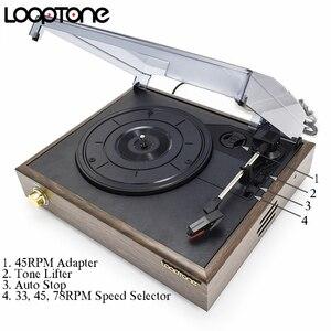 Image 3 - Looptone 3 高速古典的な蓄音機蓄音機ベルト駆動ターンテーブルビニールlpレコードプレーヤーw/2 内蔵ステレオスピーカー