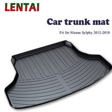 EALEN 1PC Car rear trunk Cargo mat For Nissan Sylphy B17 2012 2013 2014 2015 2016 2017 2018 Car Boot Liner Tray Anti-slip mat for lada largus 2012 2018 trunk mat floor rugs non slip polyurethane dirt protection interior trunk car styling
