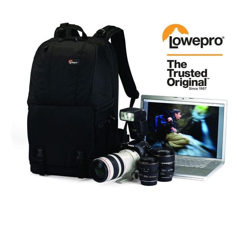 En gros Véritable Lowepro Fastpack 350 Photo DSLR Camera Bag Digital SLR Sac À Dos ordinateur portable 15.4 avec All Weather Cover