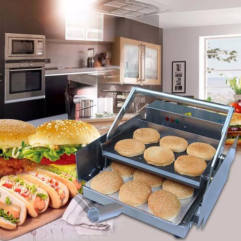 freeshipping 800w power electric Commercial Hamburger Maker Commercial Electric Hamburger Machine can bake 6pcs together|canned machine| |  - title=