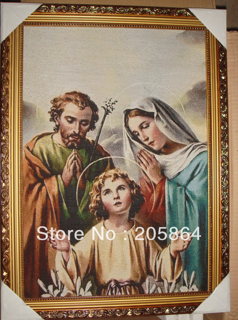 Free shipping  gobelin tapestries,Holy Family,decoration picture,multifunctional and high technical fabric pictures