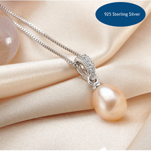 Hiphop Water Drop Silver Pendant&Necklace For Women Classic Simple Female Necklace Pendant White Pink Purple Black Necklace