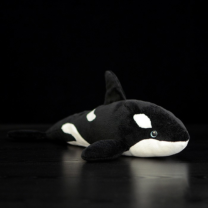 15 lifelike extra soft orca plush toy killer whale for Life size shark plush
