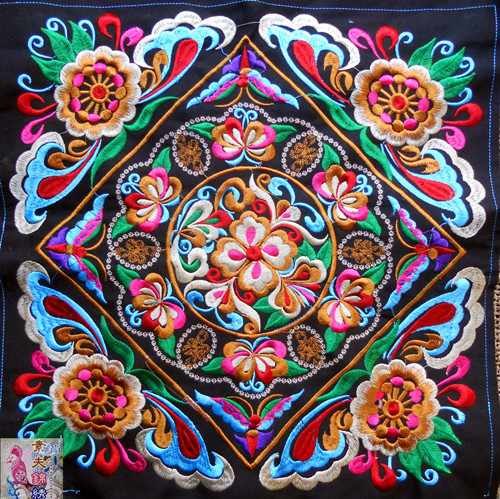 Big Square Embroidery Patches Ethnic Miao Patch Garment Sewing