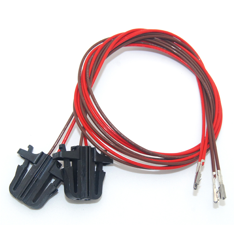 2PCSx 50cm For OEM VW Door Warning Light Extension Cable/Harness/Connector/Plug/Wire For VW Golf Jetta MK5 Passat