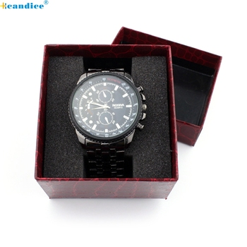 Splendid Crocodile Durable Present Gift Box Case For Bracelet Bangle Jewelry Watch Box image