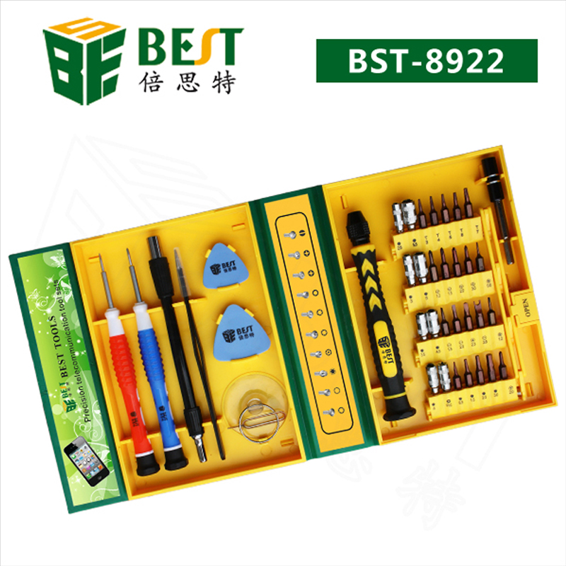 BEST Bst-8922 38 in 1 Multipurpose Screwdriver Set Maintenance Repair Tool Kit Fix For iPhone/Laptop/Smartphone/Watch +Box Case