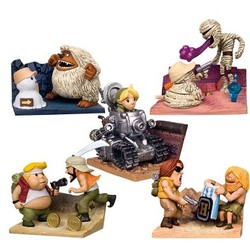 New 5 pcs/set Metal Slug MARCO TARMA FIO ERI Battle scene old Effects Collectible Action Figures Model toys gift for boy