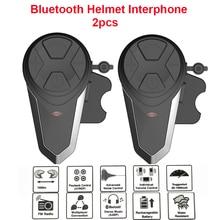 Oreillette Bluetooth pour moto, appareil de communication 1000M, Interphone mains libres pour casque, Interphone BT étanche, kit mains libres avec Radio FM, 5 langues, manuel