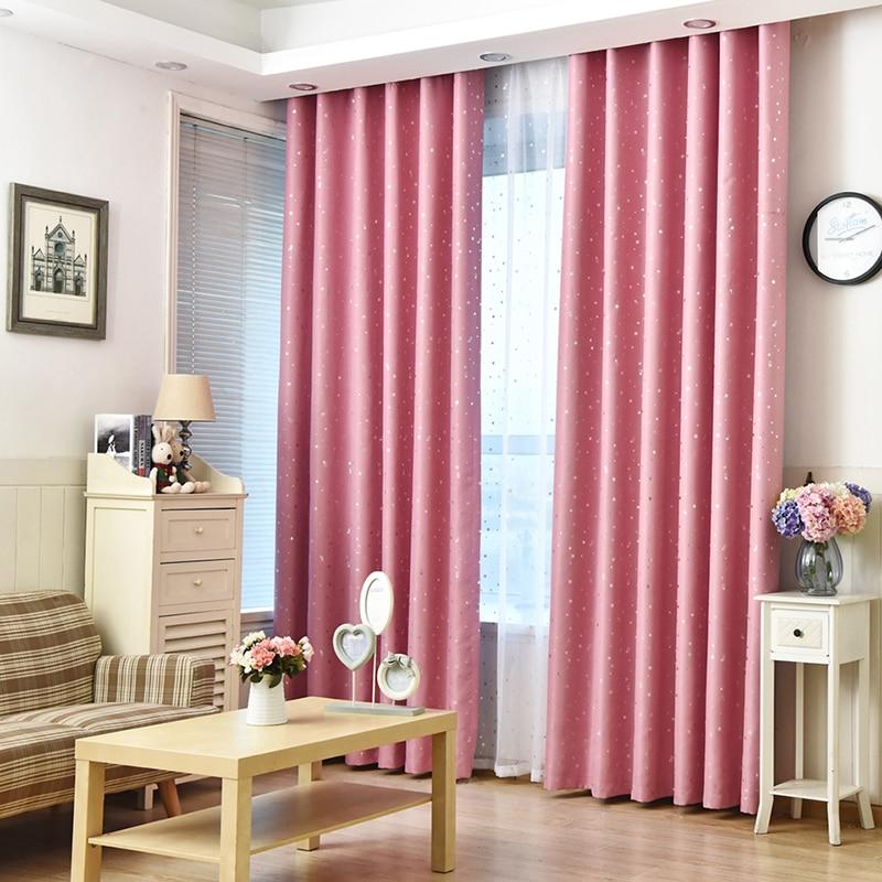 Stars Curtain Decoration Drapes Children Bedroom Tulle Fabric ...
