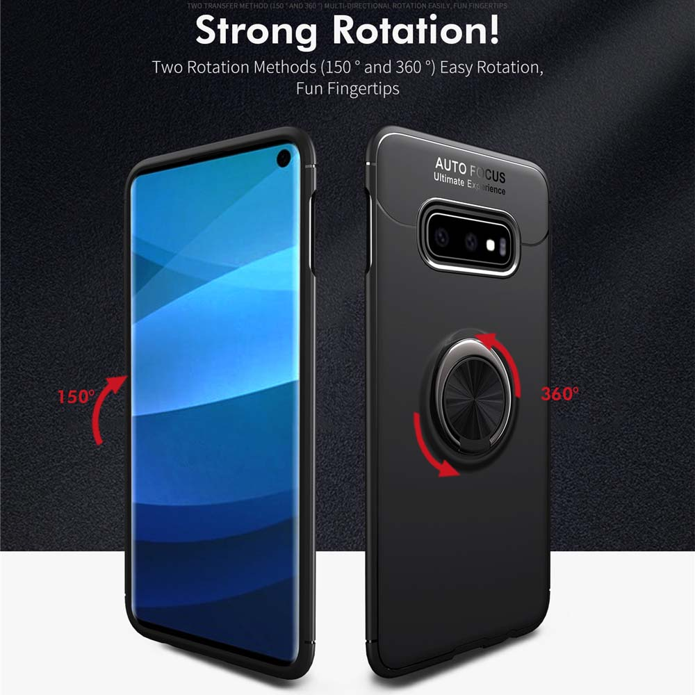 Case For Samsung Galaxy S10 S10E Case Soft Silicone Magnetic Ring Cover For Samsung Galaxy S10 Plus S 10 Case Cover Capa
