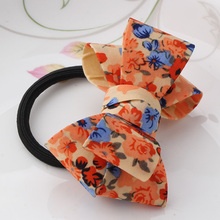 2018 New Big Bow Dot Flower Scrunchy Women Girls Hair Accessories Ponytail Hair Ornaments Elastic Hair Band Sweet Gum for Hair