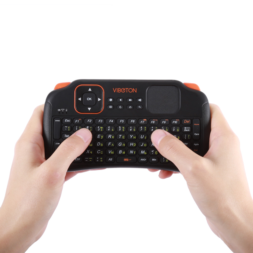 0e0ef472212 Viboton S1 English Russian 3 in 1 2.4GHz Wireless Keyboard + Air Mouse +  Remote Control with Touchpad for Windows Linux-in Keyboards from Computer &  Office ...