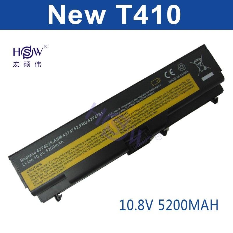 HSW 6cell Battery For Lenovo ThinkPad Edge E40 E50 L410 L412 L420 L421 L510 L512 L520 SL410 SL510 T410 T420 T510 T520 W510 W520