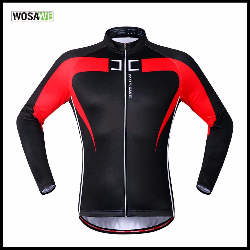 WOSAWE New Arrival Autumn Winter Cycling Jacket MTB Mountain Road Bicycle Clothing Bike Riding Full Long Sleeve Jersey