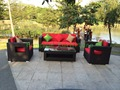 Jardín de ratán conjunto de sofás muebles de fábrica venta al por mayor