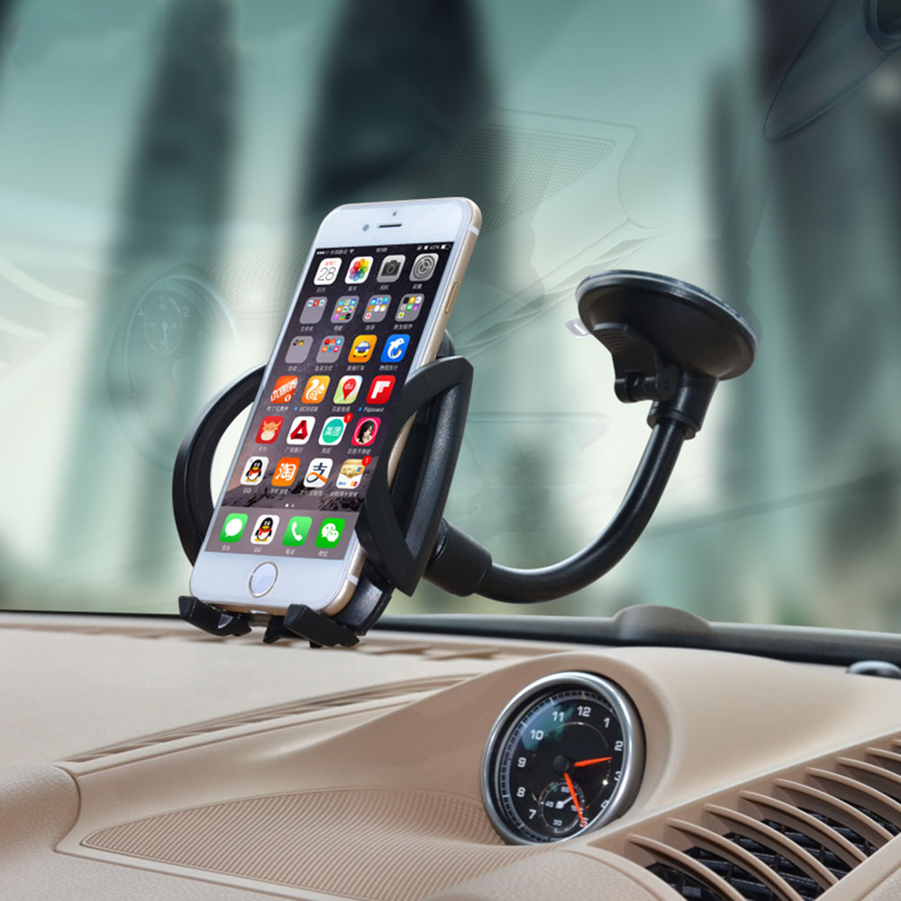Mobile Phone Holder Stand Car Windshield Mount with Suction Cup Windscreen Phone Bracket For iPhone 6 6s 7 Samsung GPS Cradle universal car suction cup holder stand mount for mobile phone black