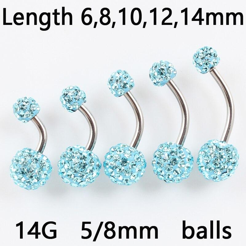 Green 4mm End Balls BodySparkle Body Jewelry Double Jeweled Industrial Barbell Piercing Earring 14g 2 inch-50mm Dk