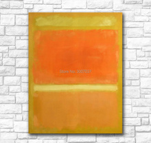 Wall Pictures For Living Room Abstract mark_rothko (Yellow Orange Yellow Light Orange) Canvas Art Home Decor Modern Oil Painting