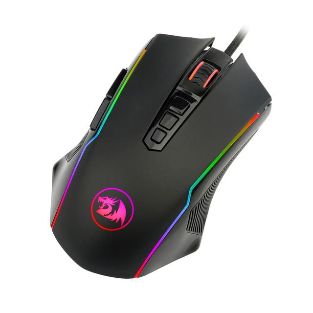 Redragon M910 Chroma souris de jeu haute précision ambidextre Programmable souris de jeu 7 Modes de rétro-éclairage RGB 10 boutons