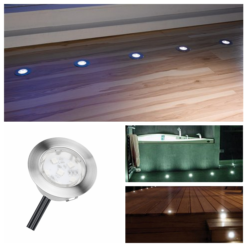 Objective Solar Power Led Deck Lights Floor Lamp Stair Light Ip67 Outdoor Waterproof Underground Lighting 8 Lamps+1 Solar Panel Step Light And To Have A Long Life. Lights & Lighting Led Lamps