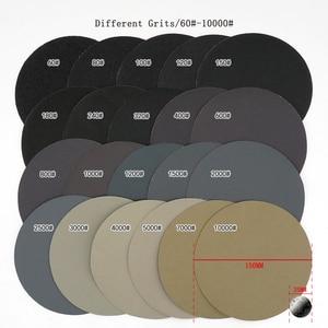 Image 2 - 20 adet 6 inç 150mm su geçirmez zımpara diskleri kanca ve döngü silikon karbür zımpara ıslak/kuru 60 10000 Grit parlatma