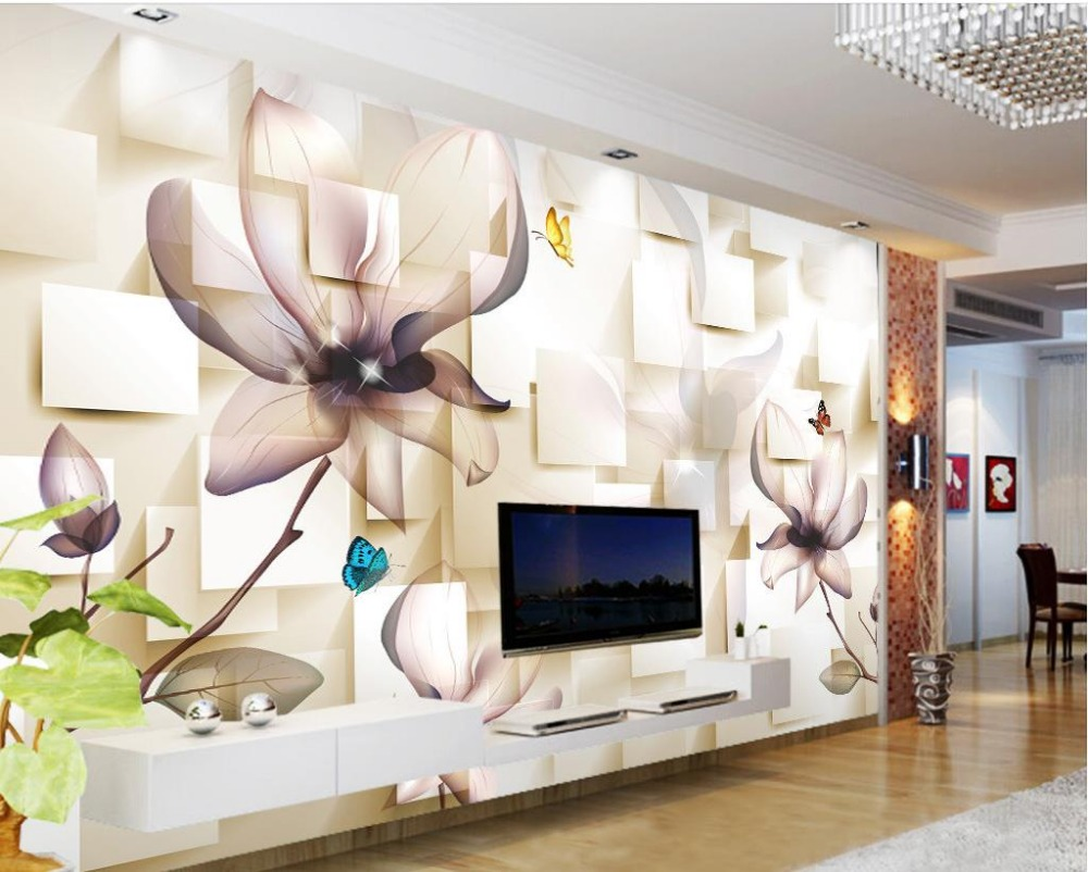 wall mural photo wallpaper 3D stereoscopic transparent fashion ...