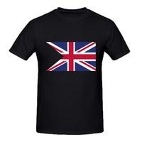 Rttmallブラックホワイトメンズtシャツ熱い販売原宿短いスリーブカジュアルtシャツコットン旗イングランドマンチームtシャツレトロcamiseta