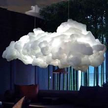 Nordic wolke kronleuchter kreative persönlichkeit hotel restaurant beleuchtung kunst wohnzimmer led-lampen portofrei