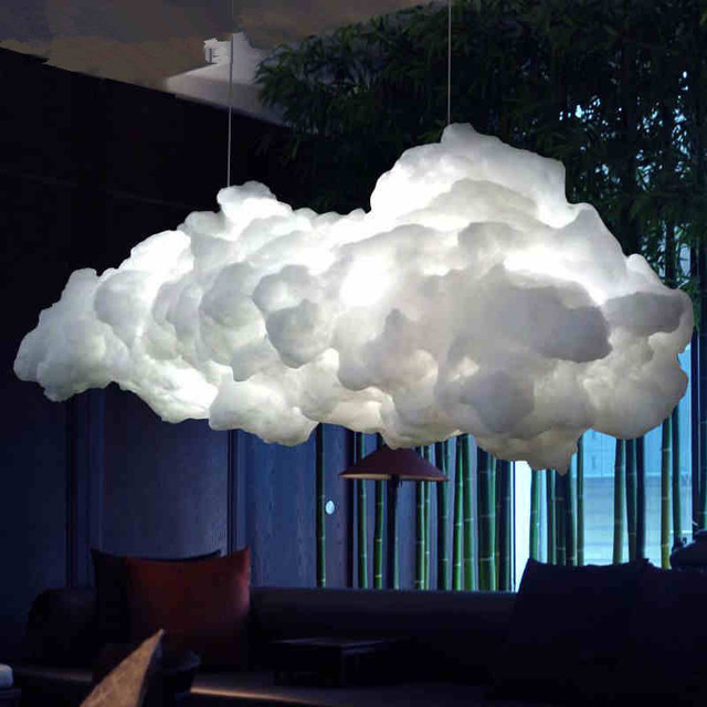 Nordic Cloud Chandelier Creative Personality Hotel Restaurant Lighting Art Living Room Led Lamps Postage Free