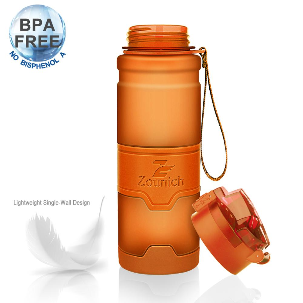Zounich Shaker Sports Water Bottles Camping Hiking Drink My Bottle 400Ml/500Ml/700Ml/1000Ml Plastic Tritan Drinkware BPA Free