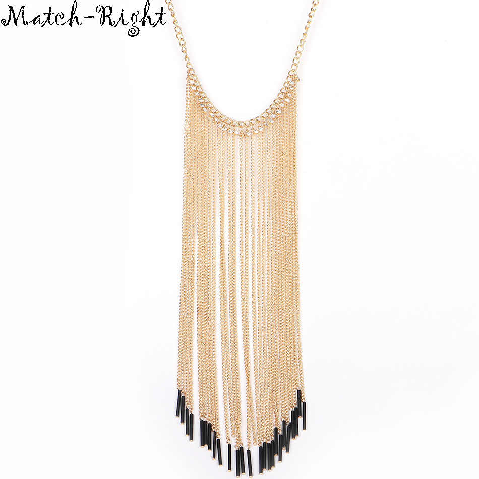 Match-Right Women Necklace Long Tassel Statement Necklaces Pendants Vintage Jewelry Maxi Necklace Women Accessories  NL578