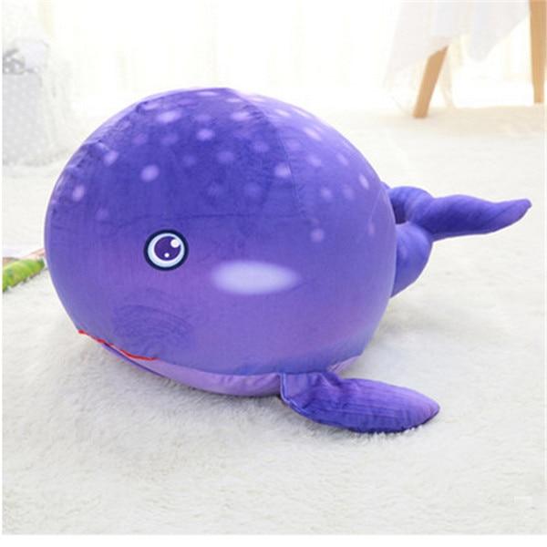 Fancytrader плюшевые морские животные Черепаха Осьминог Globefish игрушечный КИТ пенная частица набитый стул для детей 70 см X 50 см X 40 см - Цвет: purple whale