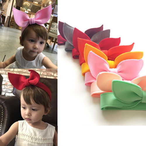 Cute Baby Girls Kids Toddler Bow Hairband Headband Turban Knot Head Wrap ...