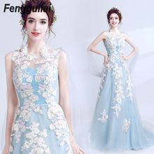 High Quality Blue  Lace Sleeveless Hollow Out Long Rayon Bandage Dress Evening Party Elegant