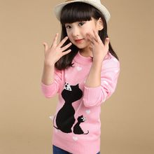 Autumn and spring girls sweater knitted sweater children's clothing lovely and cute design korean style beautiful girls dress