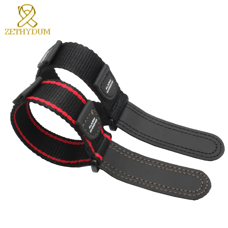 Nylon Canvas Watch Bracelet 20 Watch Band Stitched Wristwatches Band Belts Waterproof Nylon Watch Strap Sport Watchband