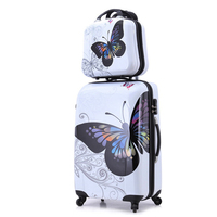 24+12 amazing hot sales Japan butterfly ABS trolley suitcase luggage sets/Pull Rod trunk/traveller case box with spinner wheel