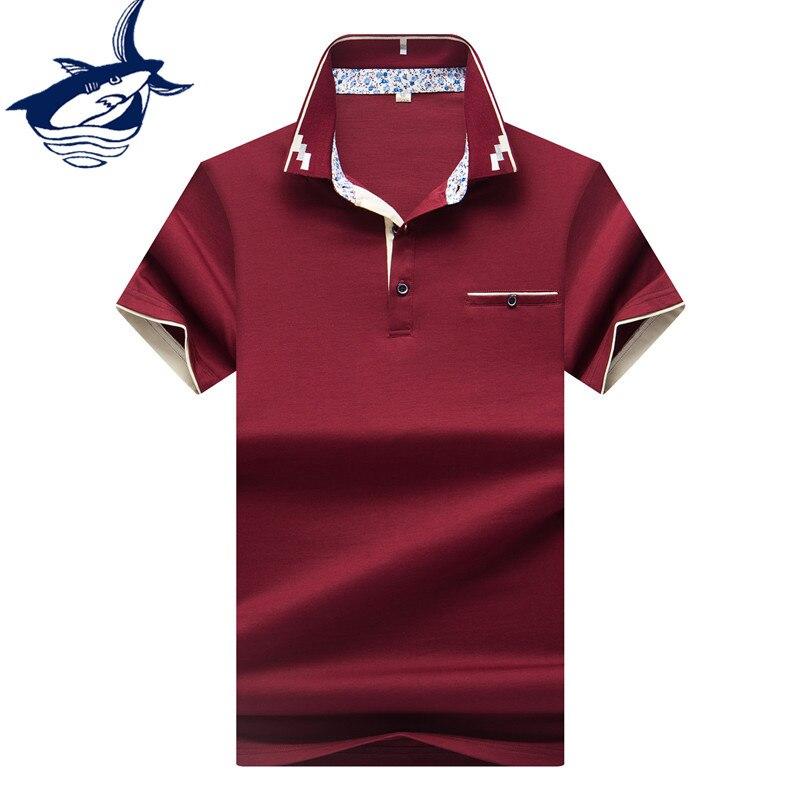 Hot Sale Men Clothes 2018 Solid camisa polo masculina ropa hombre Cotton Brand Tace Shark Polo Shirt Men Short Sleeve 1
