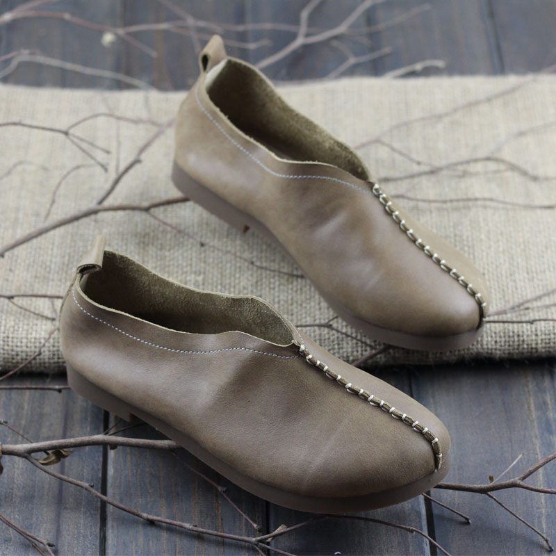 Shoes Woman Flats Casual Slip on Loafers Ladies Leather Flat Shoes Female Spring Autumn Footwear 2017(w128-3) kuidfar women shoes woman flats genuine leather round toe slip on loafers ladies flat shoes skid proof spring autumn footwear